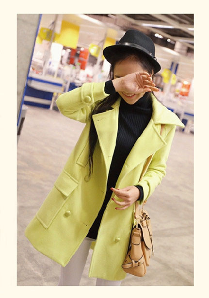 Women Loose Double Breasted Long Sleeve Trench Coat