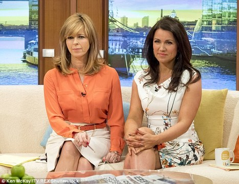 She sat alongside her glamorous co-star Kate Garraway (left) on the sofa